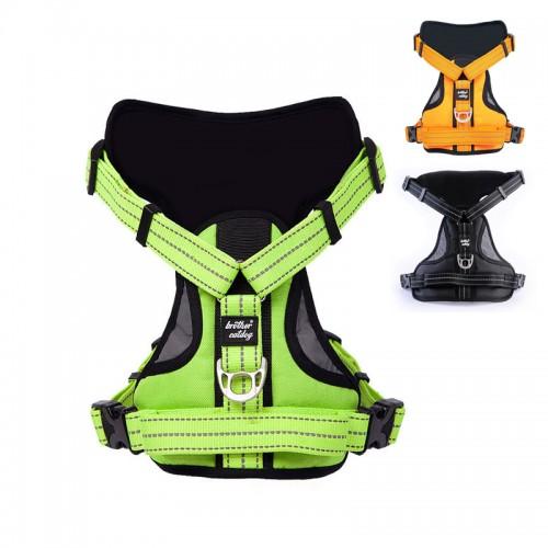 Reflective Large Dog Harness Strong Pet Training Walk Out Harness Vest Big Dog Leash Collars Set