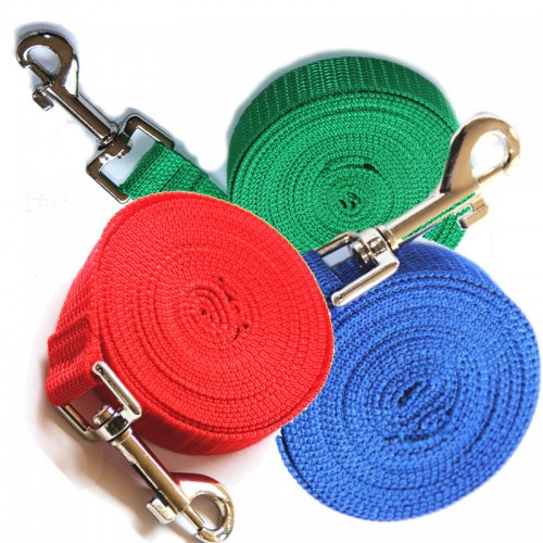 collars for big dogs Nylon rope long leash for pet dog