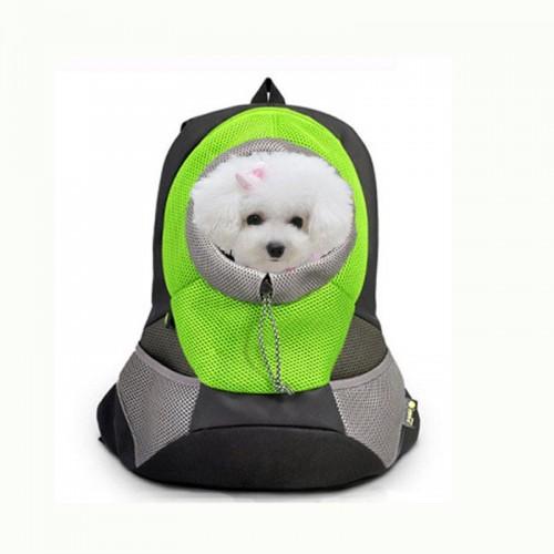 Dog Carrier Pet Backpack Bag Portable Travel Bag Pet Dog Front Bag Mesh Backpack Head Out