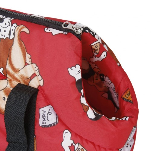 Soft Carry Shoulder travel bag Handbag for Small size dog red