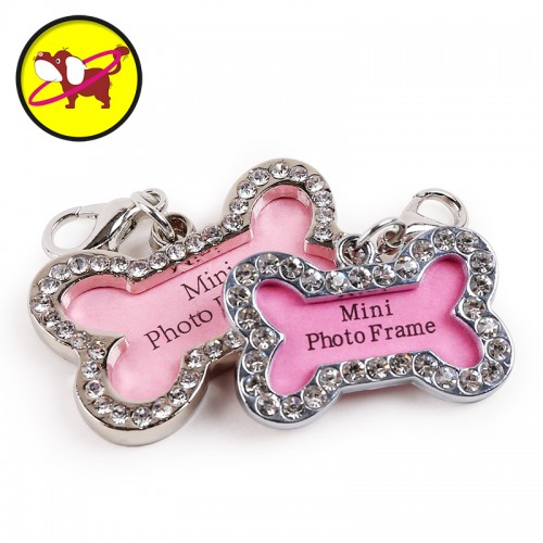 petcircle Personalized engraving text pet id tags dog tag with diamond dog identification customized name