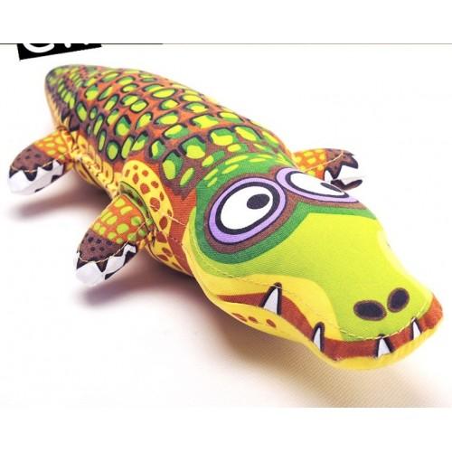 Fat cat cartoon crocodile pet dog Bite toy dourable big large dog chew toy dog puppy