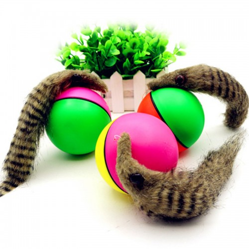 Pet dog Cat Toys Electric Beaver Weasel Toy Rolling Jump Ball Toys for dog Cat Puppy