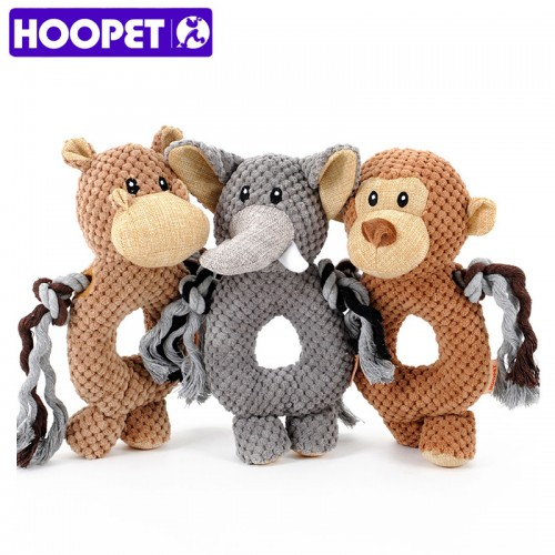 pet dog Voice small toy dog toy monkey elephant ring pet toys pet training