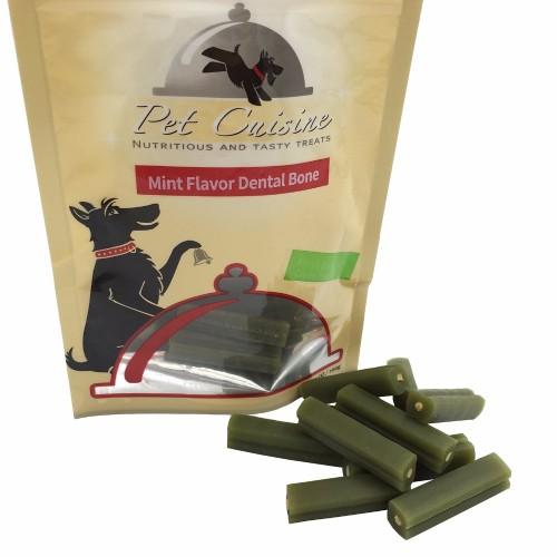 Pet Cuisine Heathy Dog Food Puppy Treats Training Snacks Chews Mint Flavor Dental Bone Sticks 100g