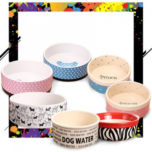 Pet Dog Food Bowl Ceramic Product Plato Para Perro Kamp Dogs Treat Feeder Water My Bottle