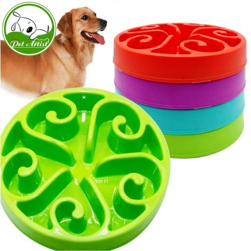 Slow Feed Dog Bowl Anti Chocking Pet Feeder Fun Interactive Stop Bloat Feeding Watering Bowls