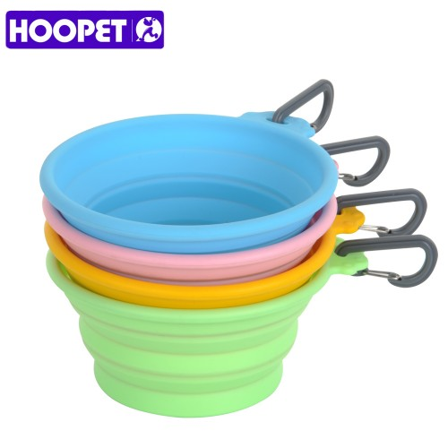 pet dogs Silicone Folding Bowl Out Portable Safe non toxic Durable save