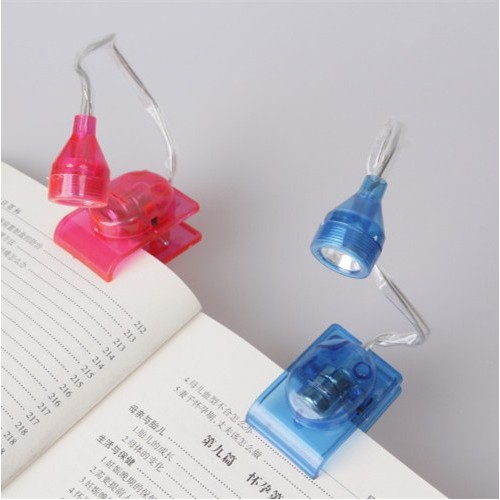 Mini LED Bulbs Clip On Adjustable Head Book Battery Portable Reading Lamp Light Bright Bedside For