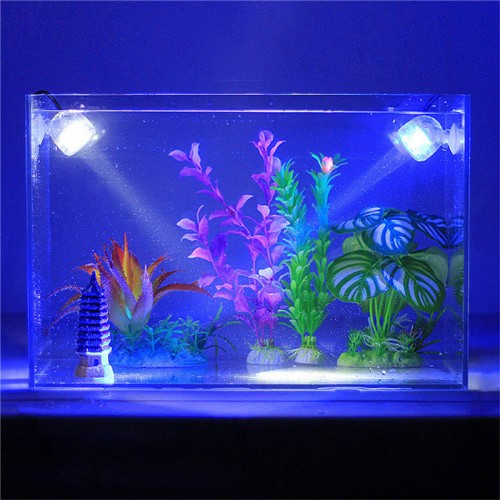 New Aquarium Fish Tank Amphibious Submersible Mini LED Spotlight Lamp Pond Underwater Pool Waterproof Light Colorful