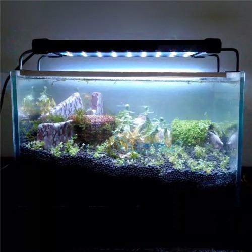 Original SMD Aquarium LED Lighting Fish Tank Lamp 50 68cm 28 46cm Extendable Frame White Blue