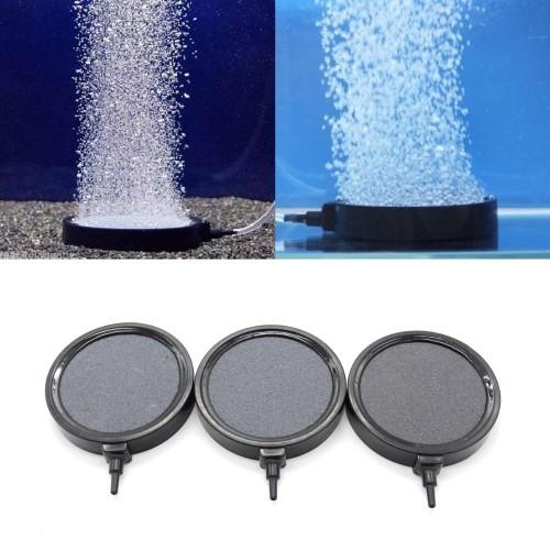 Aquarium Fish Tank Pond Air Stone Disk Diffuser Bubble Plate Black Trim