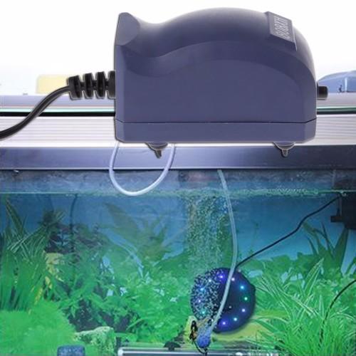 Efficient Aquarium Air Pump Silent Oxygen Fish Tank Bubble Single Outlet Plug