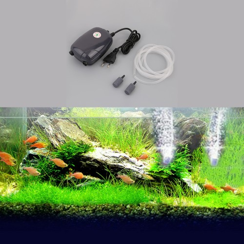 Large Aquarium Air Stone : Professional aquarium fish tank pond pump hydroponic