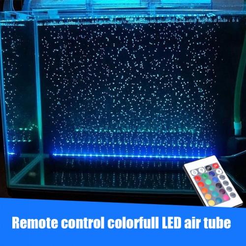 Underwater submersible LED light air stone tube air pump multi color aquarium fish