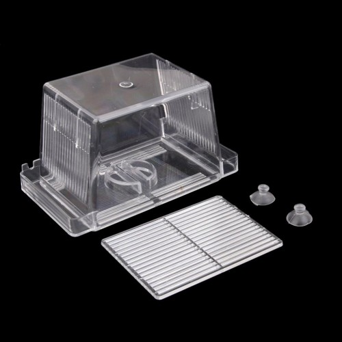 Aquarium Self floating Fish Breeding Isolation Box Breeder Hatchery Incubator Transparent