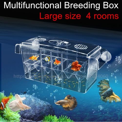 Big Size Rooms Fish Breeding Boxes Double Guppies Hatching Incubator Isolation Acrylic Mini Aquarium Tanks