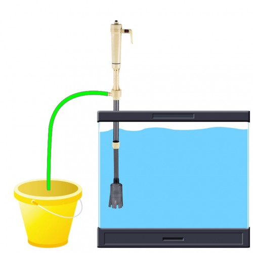 Battery Syphon Operated Fish Tank Vacuum Gravel Water Filter Clean Siphon Filter Cleaner Fish