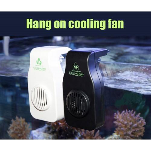 Cooling fan mini nano hang on aquarium water plant fish reef coral tank temperature reduce