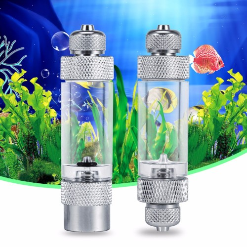 Aluminum Alloy Aquarium  Bubble Counter Check Valve Regulator Diffuser Single Dual Head Acquario Accessori