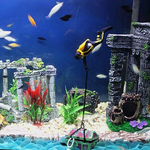Resin castle aquariums decorations exquisite aquarium fish for Aquatic decoration