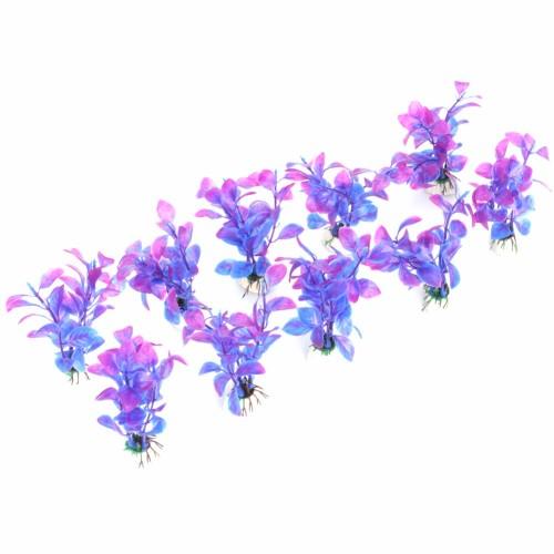 Aquarium Plants Plastic Decorations Purple Artificial Plants Fish Tank Grass Flower Ornament Decor Landscape
