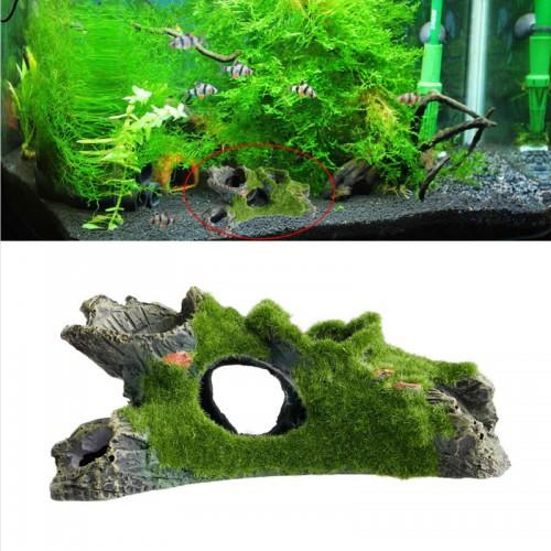 Aquarium Tree House Decor Mountain View Moss Fish Tank Ornament Decoration Ornament Colorful