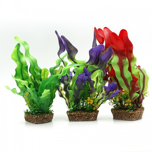 Tank aquarium coral flower design underwater plant for Artificial seaweed decoration