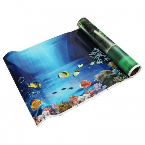 Double sided aquarium fish tank poster background for Double fish tank
