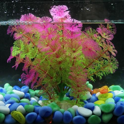 Fish Tank Artificial Plastic Fake Aquarium Plants Grass Simulation Flowers Plants Underwater Ornament