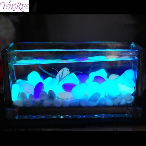 Glow In The Dark Artificial Luminous Pebbles Stone Aquarium Fish Tank Decoration Accessories