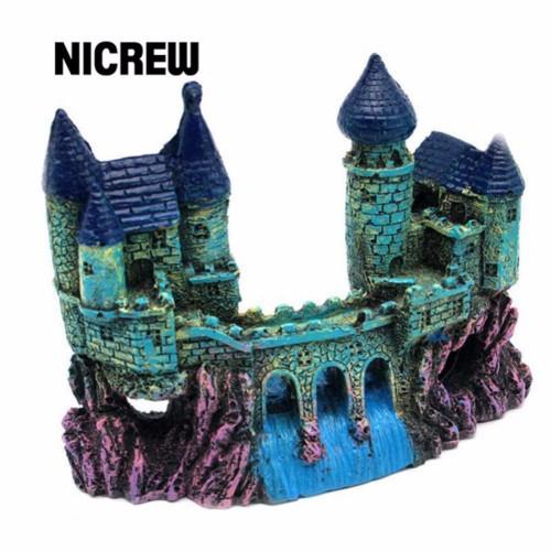 Nicrew Aquariums Decoration Resin Castle Landscaping Ancient Castle Tower For Fish Tank Aquarium Fish Escape Cave