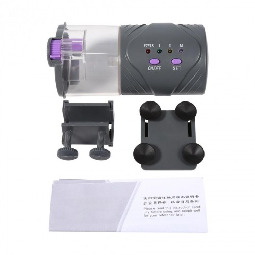 Adjustable New Battery Powered Outlet Automatic Fish Feeder Aquarium Tank Auto Food Timer Feeding Dispenser