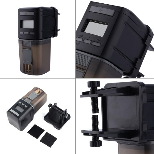 Display Automatic Fish Feeder Aquarium Fish Food Automatic Timer Feeding Dispenser Adjustable Practical Output