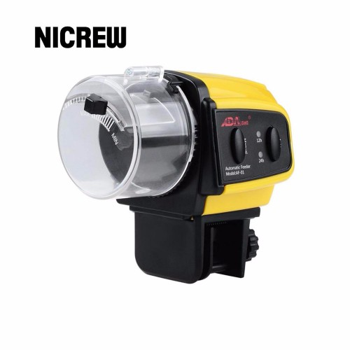 Nicrew Aquarium Tank Automatic Fish Feeder Digital LCD Timer Food Feeding Electronic Fish Food Feeder Timer