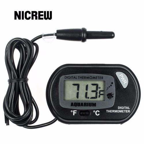 Nicrew LCD Digital Aquarium Thermometer Fish Tank Water Terrarium Temperature for Aquarium insect Reptile