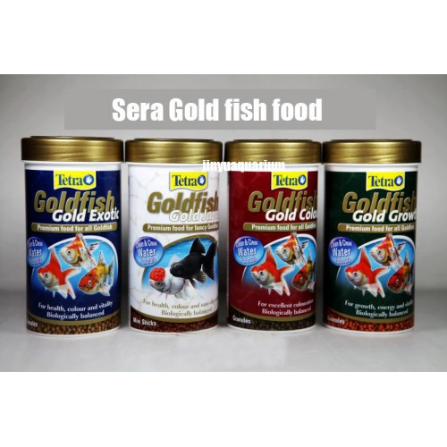 Tetra Gold Fish small fish food tropical coldwater fish canister feeder aquarium