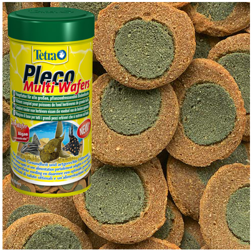 Tetra Pleco Multi Wafers Suckermouth catfish Benthic fish small bottom fish food canister feeder aquarium