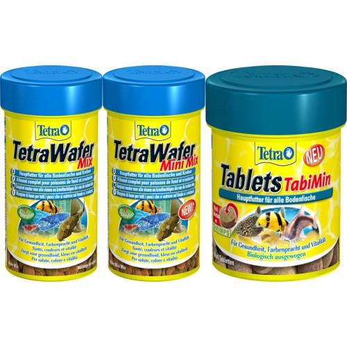 Tetra Tablets pleco bottom fish TabiMin Suckermouth catfish Benthic fish small bottom fish food canister feeder