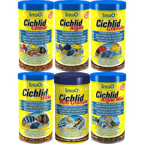 Tetra cichild tropical fish food granules sticks aquarium east africa cichild fish food feeder made in