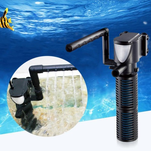 Aquarium Filter Multi function Aquarium Fish Tank Internal Purifier Submersible Pump