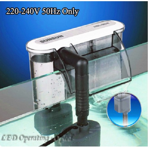 Super External Aquarium Filter Box Waterfall Water Pumps Active Carbon Sponge Board for fish