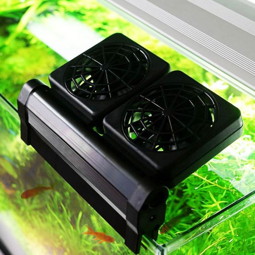 1 2 3 4 Fans Aquarium Chiller Cooling Fan Fish Tank Cold Wind Chiller Temperature Control