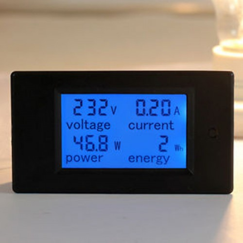 AC 80 260V LCD Digital 100A Volt Watt Power Meter Ammeter Voltmeter 110V 220V