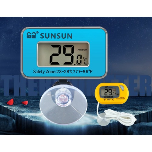 Thermometer fish tank underwater waterproof plant tank temperature monitor LCD display USB charge