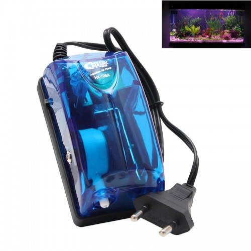 Aquarium Oxygen Fish Air Pump Tank Energy Super Silent Single Outlet EU Plug New