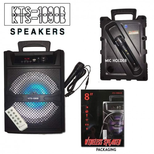 Kts-1090 Wireless Bluetooth Speaker Karaoke mic
