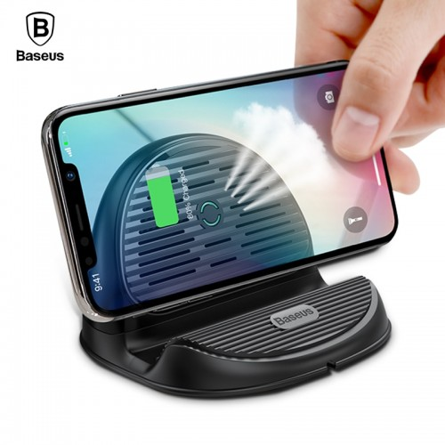Baseus 10W Qi Wireless Charger For iPhone X 8 Silicone Wirless Charging Dock Station For Samsung