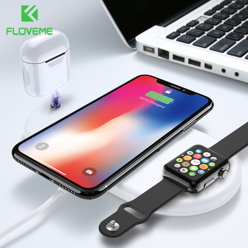 FLOVEME 3 in 1 Wireless Charger For Apple Watch AirPod 10W Qi Wireless Charger For iPhone