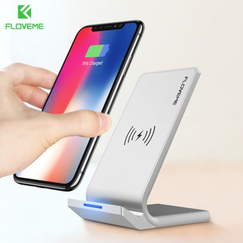FLOVEME Universal Qi Fast Wireless Charger For iPhone X 10 8 Plus Charger USB 10W Power